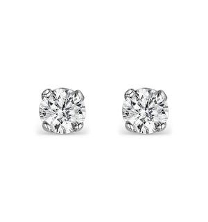 Diamond Earrings 0.15ct Studs in 9K White Gold - B3468Y