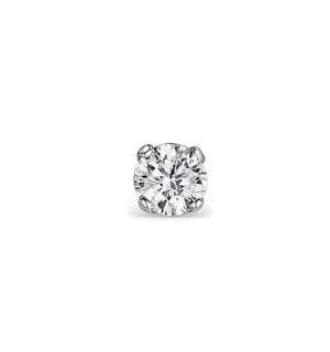 SINGLE Stud Diamond Earring 0.15ct Premium Quality 18KW Gold - 3.4mm