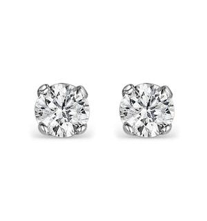 Diamond Earrings 0.40CT Studs Premium Quality in 18K White Gold 3.8mm