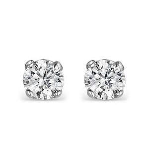 Diamond Stud Earrings 4.1mm 18K Gold - 0.50CT - Premium