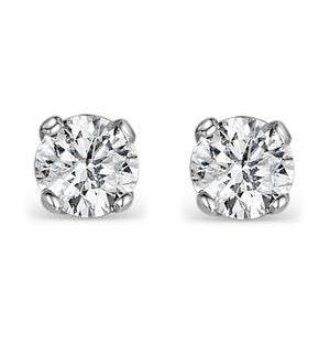Diamond Stud Earrings 5.1mm 18K Gold - 1CT - Premium