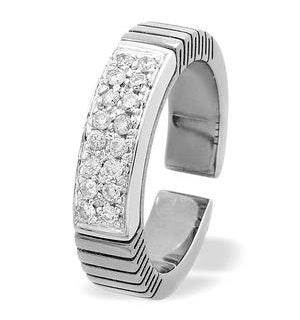 Diamond 0.22ct and Titanium Pave Ring - RTC-V3260