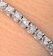 Silver Diamond Set 0.57ct Tennis Bracelet - image 2