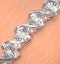 0.19ct Diamond and Silver Twist Bracelet - UD3241 - image 3