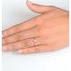 Certified Lauren 18K Gold Diamond Engagement Ring 0.25CT-G-H/SI - image 4