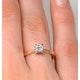Certified Lauren 18K Gold Diamond Engagement Ring 0.33CT-F-G/VS - image 4