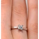 Certified Lauren Platinum Diamond Engagement Ring 0.33CT-F-G/VS - image 4