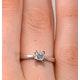 Engagement Ring Certified Lauren 18K White Gold Diamond 0.33CT-F-G/VS - image 4