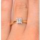 Certified Lauren 18K Gold Diamond Engagement Ring 0.50CT-G-H/SI - image 4