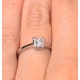 Certified Lauren 18K White Gold Diamond Engagement Ring 0.50CT-G-H/SI - image 4