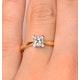 Certified Lauren 18K Gold Diamond Engagement Ring 0.50CT-F-G/VS - image 4