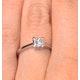 Certified Lauren Platinum Diamond Engagement Ring 0.50CT-F-G/VS - image 4