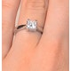 Certified Lauren Platinum Diamond Engagement Ring 0.75CT-F-G/VS - image 4
