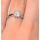 Certified Lauren 18K White Gold Diamond Engagement Ring 0.75CT-F-G/VS - image 4