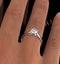 Certified 0.90CT Chloe Low Platinum Engagement Ring E/VS1 - image 4