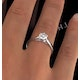 Certified 0.90CT Chloe Low Platinum Engagement Ring G/SI2 - image 4