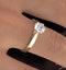 1 Carat Diamond Engagement Ring Low Set Chloe Lab G/VS1 18K Gold - image 4