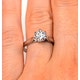 Certified 1.00CT Chloe Low Platinum Engagement Ring E/VS1 - image 4