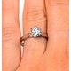 Low Set Chloe Lab Diamond Engagement Ring 1.00ct G/VS1 18K White Gold - image 4