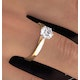 Certified 1.00CT Chloe Low 18K Gold Engagement Ring E/VS2 - image 4