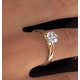Low Set Chloe Lab Diamond Engagement Ring IGI 1.00ct H/SI1 18K Gold - image 4