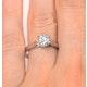 Low Set Chloe Lab Diamond Engagement Ring IGI 1.00ct H/SI1 Platinum - image 4