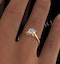 Certified 1.00CT Chloe Low 18K Gold Engagement Ring G/SI2 - image 4