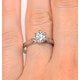 Certified 1.00CT Chloe Low Platinum Engagement Ring G/SI2 - image 4