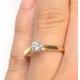Certified Low Set Chloe 18K Gold Diamond Engagement Ring 0.25CT - image 4