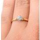 Certified Low Set Chloe 18K Gold Diamond Engagement Ring 0.33CT-G-H/SI - image 4