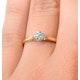 Certified Low Set Chloe 18K Gold Diamond Engagement Ring 0.33CT - image 4
