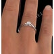 Engagement Ring Certified Low Set Chloe 18K White Gold Diamond 0.33CT - image 4