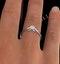 Engagement Ring Certified Low Set Chloe 18K White Gold Diamond 0.33CT - image 4