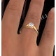 Low Set Chloe Lab Diamond Engagement Ring IGI 0.50ct F/VS1 18K Gold - image 4