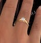 Certified 0.50CT Chloe Low 18K Gold Engagement Ring E/VS1 - image 4