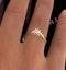 Half Carat Diamond Engagement Ring Low Chloe Lab F/VS1 18K Gold - image 4