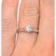 Certified 0.50CT Chloe Low 18K White Gold Engagement Ring E/VS1 - image 4