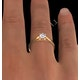 Certified 0.50CT Chloe Low 18K Gold Engagement Ring E/VS2 - image 4