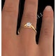 Certified 0.50CT Chloe Low 18K Gold Engagement Ring G/SI1 - image 4