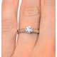 Certified 0.50CT Chloe Low Platinum Engagement Ring G/SI2 - image 4