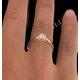 Certified Low Set Chloe 18K Gold Diamond Engagement Ring 0.50CT - image 4