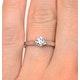 Engagement Ring Certified Low Set Chloe 18K White Gold Diamond 0.50CT - image 4