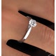 Certified 0.70CT Chloe Low Platinum Engagement Ring E/VS1 - image 4