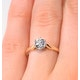 Certified 0.70CT Chloe Low 18K Gold Engagement Ring G/SI1 - image 4