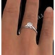 Certified 0.70CT Chloe Low Platinum Engagement Ring G/SI1 - image 4