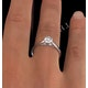 Certified 0.70CT Chloe Low 18K White Gold Engagement Ring G/SI1 - image 4