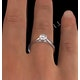 Certified 0.70CT Chloe Low Platinum Engagement Ring G/SI2 - image 4