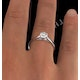 Certified 0.70CT Chloe Low 18K White Gold Engagement Ring G/SI2 - image 4