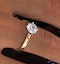 Certified 1.00CT Lily 18K Gold Engagement Ring E/VS1 - image 4