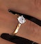 Certified 1.00CT Lily 18K Gold Engagement Ring E/VS2 - image 4